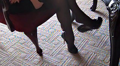 Silk stockings, Silk, High heels, Stocking heels, Stocking foot