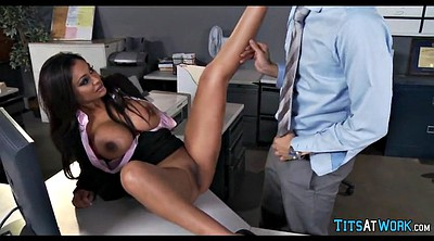 Secretary, Huge, Secretary milf, Big tits at work