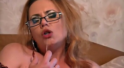 Russian mature, Glasses, Double dildo, Milf dildo, Russian mature anal, Russian bbw
