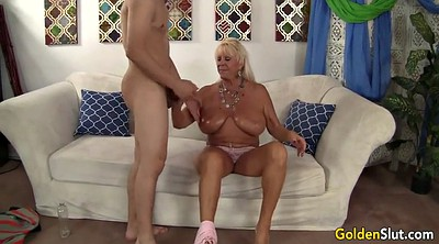 Mature massage, Granny boy, Mature boy, Massage seducing, Granny massage, Blonde granny