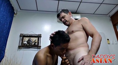 Father, Blowjob, Old gay, Daddy gay, Asian old, Young asian