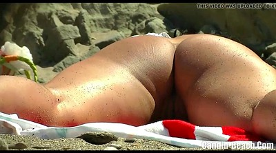 Clit, Voyeur beach, Hairy ass, Nudists, Nudist beach, Asses