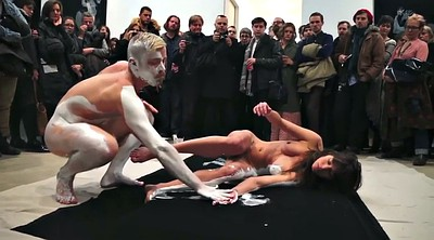 Nude, Body paint, Paint, Body painting, Public nude, Painting