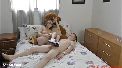 Solo girl, Excited, Footjob teen