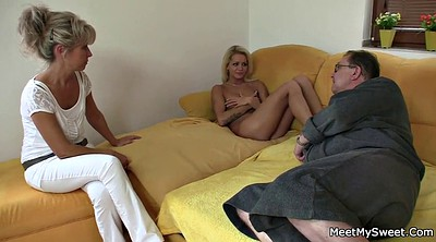 Wife threesome, Mature and young, Old mature