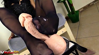 Pantyhose feet, Pantyhose footjob, Black pantyhose
