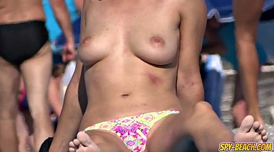 Hot boobs, Teen boobs, Beach topless