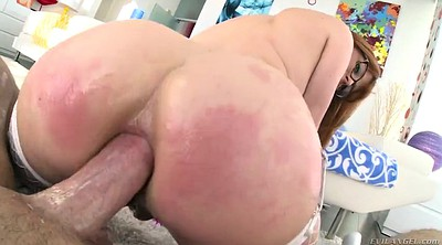 Gloves, Glove, Anal close-up, Anal redhead