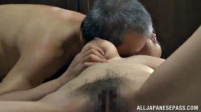 Asian mature, Moan, While, Natural tits, Mature missionary