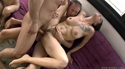 Double penetration, Swinger orgy, Hairy milf, Hairy group
