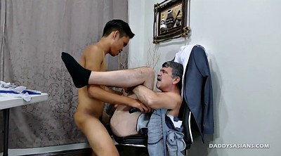 Daddy, Dad, Old gay, Asian office, Asian daddy, Guy