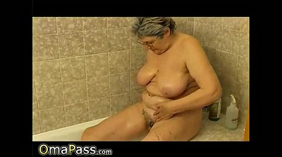 Granny solo, Mature hairy, Shower solo, Hairy solo