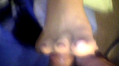 Footjob, Nylon, Nylon footjob, Nylon foot, Nylon feet, Red toe