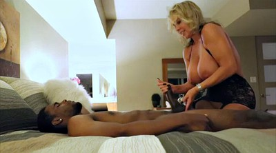 Mature interracial, Ebony blowjob