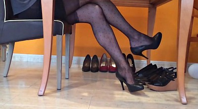 Heels, Pantyhose nylon, Nylon foot, Heeled