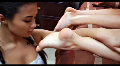 Foot worship, Asian foot, Asian foot worship, Lesbian foot