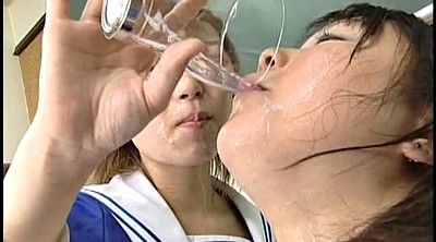 Japanese swallow, Schoolgirl, Japanese schoolgirl, Multiple, Japanese schoolgirls, Japanese cum