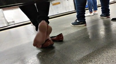 German, Candid, Subway, Candid feet
