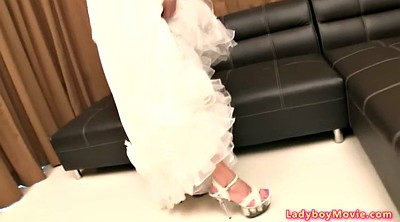 Cosplay, Asian upskirt, Dress, Shemales, Wedding, Asian shemale