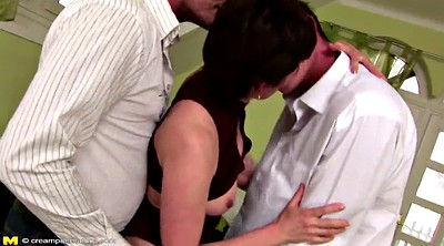 Double, Mom creampie, Granny boy, Old creampie, Mom boy, Mom and