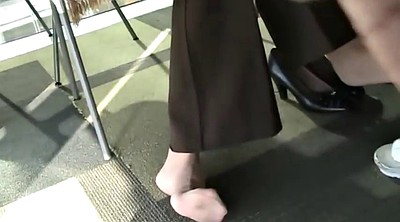 Nylon feet, Library, Candid, Candid feet, Feeting