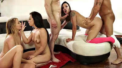 Three, Mature orgy, Chubby latina, Latina orgy