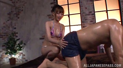 Massage, Tit, Asian bikini, Asian oil
