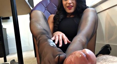 Footjob, Pantyhose footjob, Pantyhose feet, Pantyhose foot, Office footjob, Office feet