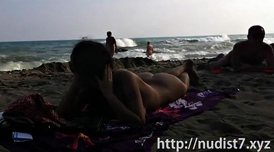 Beach, Flashing, Naked public, Voyeur beach, Caught with