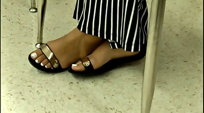 Candid, Teen feet, Friends, Milf foot, Ebony foot, Black foot