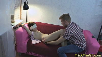 Tricked, Russian cuckold, Blindfolded tricked, Blindfold tricked