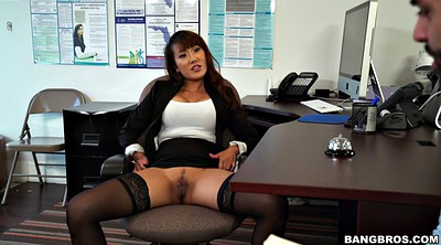 Tiffany rain, Boss, Legs spread, Asian office, Spreading