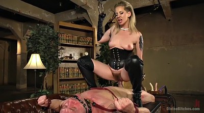 Boots, Leather, Leashed, Milf boots, Mature orgasm, Mature boy