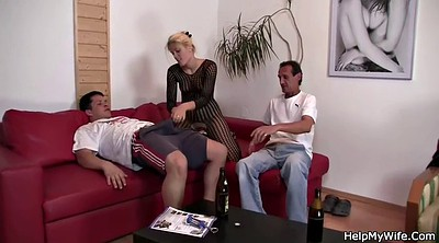 Young old, Wife watches, Czech wife