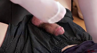 Japanese footjob, Japanese feet, Yui, Japanese stockings, Japanese stocking, Stocking footjob