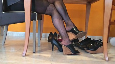 Pantyhose, Heels, Nylon foot, Pantyhose foot, Heel fetish, Fetish pantyhose