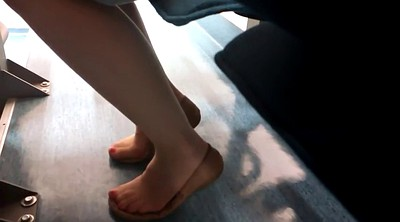 Nylon foot fetish, Nylon feet, Shoeplay, Candid feet