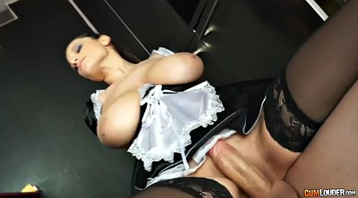 Sensual jane, Uniform, Giant cock, Giant, Big boobs