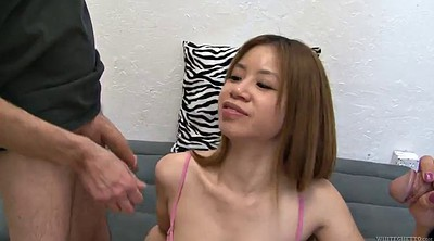Asian, Asian gangbang, Gangbanged