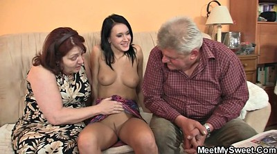 Threesome, Teen riding old