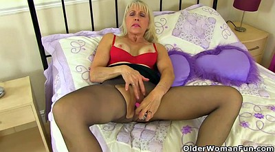 English, Nylon mature, British milf