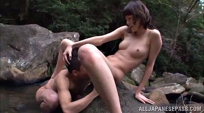 Job, Hairy pussy, Outdoor, Foot job, Asian foot