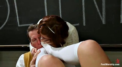 Foot worship, Teacher foot