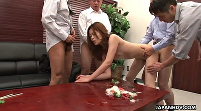 Yui, Japanese office, Japanese creampie, Gangbang creampie, Japanese licking, Asian gangbang