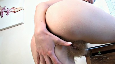 Open pussy, Spreading pussy, Wide open, Hairy redhead