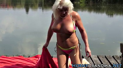 Mature outdoor, Granny anal