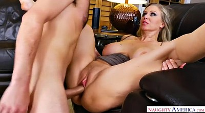 Julia ann, Julia, Chubby riding, Milf seduce, Big cock son