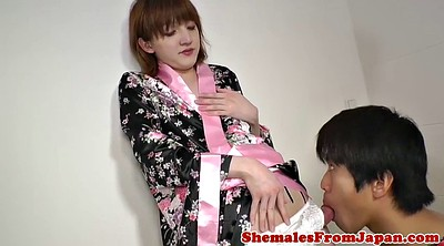 Asian blowjob, Newhalf, Kimono