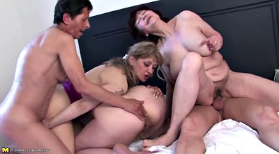 Mature gangbang, Old young, Mature group, Young and old
