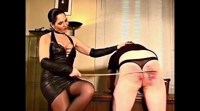 Caning, Femdom spanking, Caned, Latex mistress